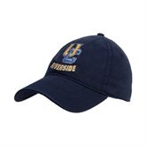 Navy Twill Unstructured Low Profile Hat-Interlocking UC Riverside