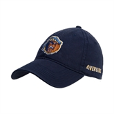 Navy Twill Unstructured Low Profile Hat-Highlander Bear