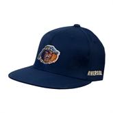 Navy OttoFlex Flat Bill Pro Style Hat-Highlander Bear