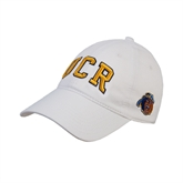 White Twill Unstructured Low Profile Hat-UCR