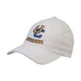 White OttoFlex Unstructured Low Profile Hat-Interlocking UC Riverside