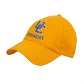 Gold Twill Unstructured Low Profile Hat-Interlocking UC Riverside
