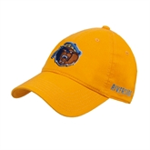 Gold Twill Unstructured Low Profile Hat-Highlander Bear