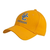 Gold Heavyweight Twill Pro Style Hat-Interlocking UC Riverside