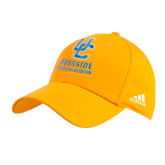 Adidas Gold Structured Adjustable Hat-Interlocking UC Riverside