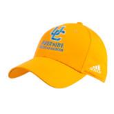 Adidas Gold Structured Adjustable Hat-Interlocking UC Riverside