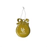 Gold Bulb Ornament-Interlocking UC Riverside Engraved