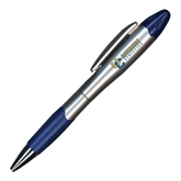 Silver/Blue Blossom Pen/Highlighter-Interlocking UC Riverside Side Version