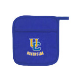 Quilted Canvas Royal Pot Holder-Interlocking UC Riverside