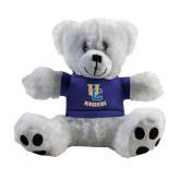Plush Big Paw 8 1/2 inch White Bear w/Royal Shirt-Interlocking UC Riverside