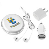 3 in 1 White Audio Travel Kit-Interlocking UC Riverside