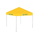 9 ft x 9 ft Gold Tent-Interlocking UC Riverside Side Version