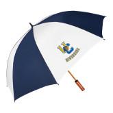62 Inch Navy/White Umbrella-Interlocking UC Riverside w/Bear Head