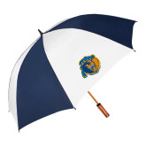 62 Inch Navy/White Umbrella-Highlander Bear