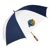 62 Inch Navy/White Umbrella-Highlander Bear
