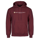 Maroon Fleece Hoodie-Robert Morris University Illinois