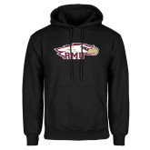Black Fleece Hoodie-RMU Eagle Head