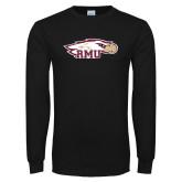 Black Long Sleeve T Shirt-RMU Eagle Head