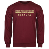 Maroon Fleece Crew-Grandpa