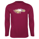 XXX Performance Maroon Longsleeve Shirt-Eagle Head