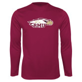 XXX Performance Maroon Longsleeve Shirt-RMU Eagle Head