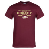 Maroon T Shirt-Hockey