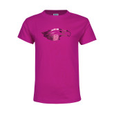 Youth Cyber Pink T Shirt-Eagle Head  Foil