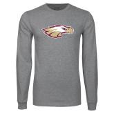 Grey Long Sleeve T Shirt-Eagle Head