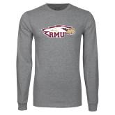 Grey Long Sleeve T Shirt-RMU Eagle Head