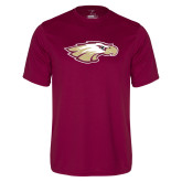 Performance Maroon Tee-Eagle Head