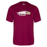 Performance Maroon Tee-RMU Eagle Head