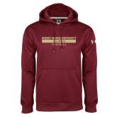 XXX Under Armour Maroon Performance Sweats Team Hoodie-Football