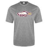 Performance Grey Heather Contender Tee-RMU Eagle Head