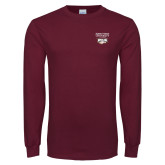 Maroon Long Sleeve T Shirt-Primary Mark