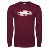 Maroon Long Sleeve T Shirt-RMU Eagle Head