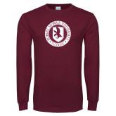 Maroon Long Sleeve T Shirt-Seal