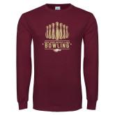 Maroon Long Sleeve T Shirt-Bowling