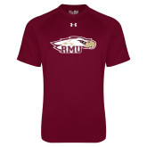 Under Armour Maroon Tech Tee-RMU Eagle Head