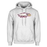 White Fleece Hoodie-RMU Eagle Head