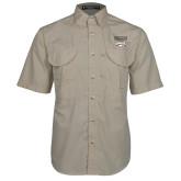 XXX Khaki Short Sleeve Performance Fishing Shirt-Primary Mark