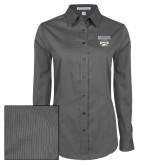 XXX Ladies Grey Tonal Pattern Long Sleeve Shirt-Primary Mark