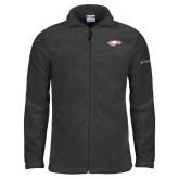 Columbia Full Zip Charcoal Fleece Jacket-Eagle Head