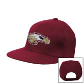 XXX Maroon Flat Bill Snapback Hat-Eagle Head