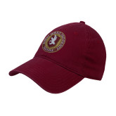 XXX Maroon Twill Unstructured Low Profile Hat-Seal