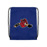 Royal Drawstring Backpack-Hammy w/ Hockey Stick