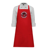Full Length Red Apron-Badge