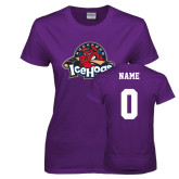 Ladies Purple T Shirt-Primary Mark, Custom tee w/ Name and #