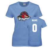 Ladies Arctic Blue T Shirt-Primary Mark, Custom tee w/ Name and #