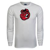 White Long Sleeve T Shirt-Hammy Head