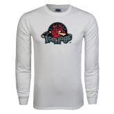 White Long Sleeve T Shirt-Military Logo